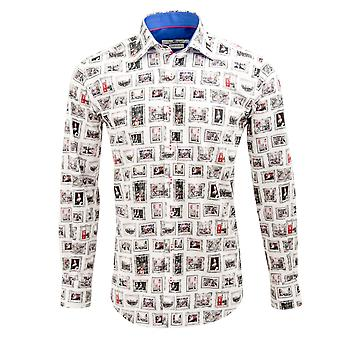 Клаудио Lugli британской королевской семьи печати Мужская рубашка
