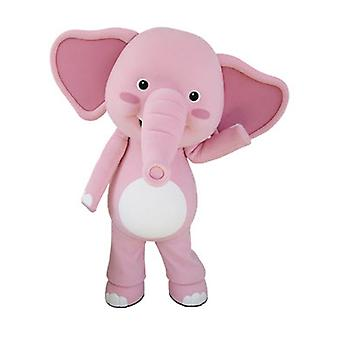 SPOTSOUND of pink and white, giant elephant mascot