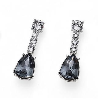 Oliver Weber Earring Trilliant Large Rhodium, Silver Night