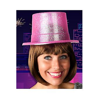 Hats  Pink top hat glitter