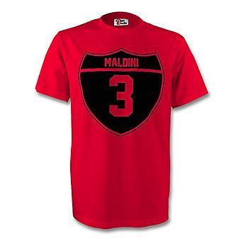 Paolo Maldini Ac Milan Crest Tee (rojo)