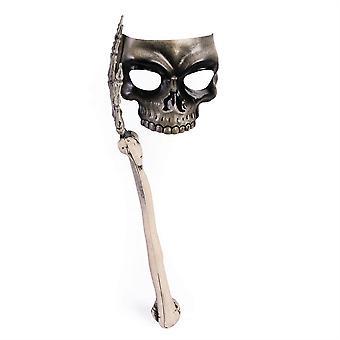 Skull Mask with Bone Handle