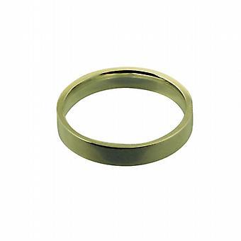 18 قيراط الذهب 4 مم عادي مسطح المحكمة على شكل Z حجم خاتم الزواج