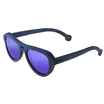 Spectrum Machado Wood Polarized Sunglasses - Blue/Blue