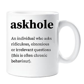 Askhole definicja kubek Urban Dictionary