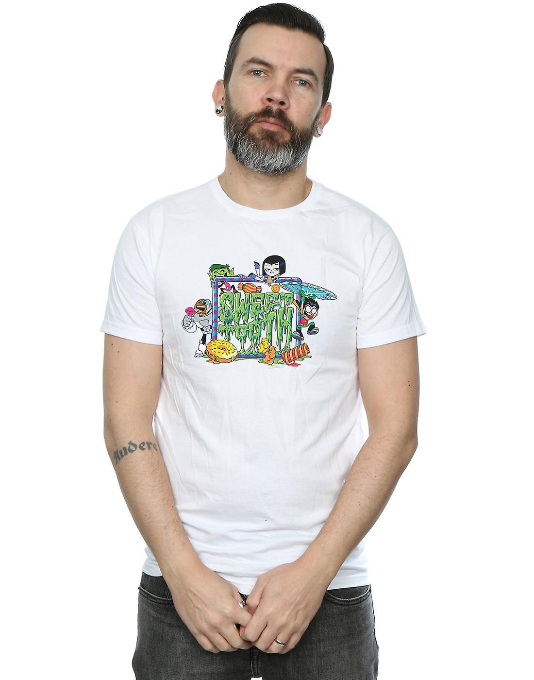DC Comics Men's Teen Titans Go Sweet Tooth T-Shirt