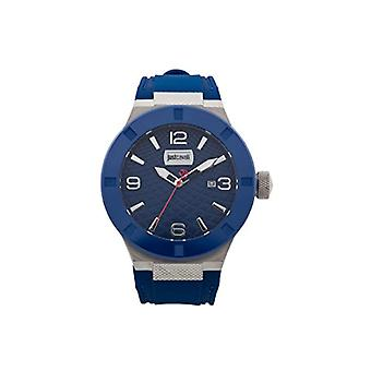 Just Cavalli Mens Quartz analog clock with Silicone strap JC1G017P0025