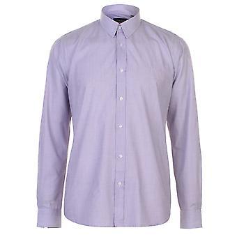 Pierre Cardin męskie przędzy barwnik długi rękaw koszuli dorywczo górny przycisk regularne