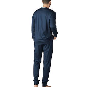 Mey 18889-668 Men's Uni Basic Yacht Blue Pyjama Set