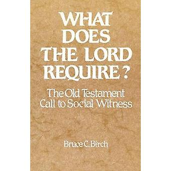 What Does the Lord Require The Old Testament Call to Social Witness by Birch & Bruce C.