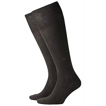 Burlington Dublin Knee High chaussettes - noir