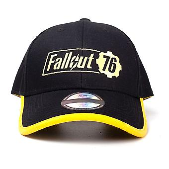 Fallout 76 Embroidered Logo Adjustable Cap One Size - Black/Yellow
