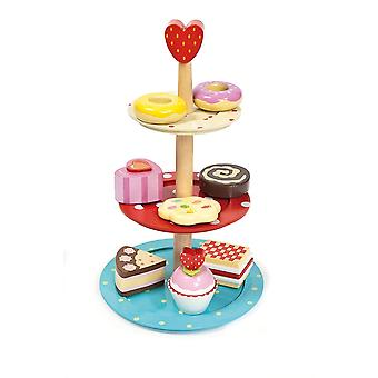 Le Toy Van Honeybake Wooden Cake Stand Set