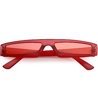 Thin Retro Frosted Color Lens Flat Spectacle Sunglasses