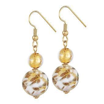 Eternal Collection Tuscany Gold Multi Venetian Murano Glass Drop Pierced Earrings