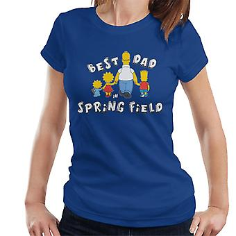The Simpsons Best Dad In Springfield Women's T-Shirt