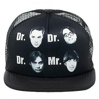 Baseball Cap - Big Bang Theory - Dr Dr Dr Mr Black Trucker Hat New ba0jicbbt