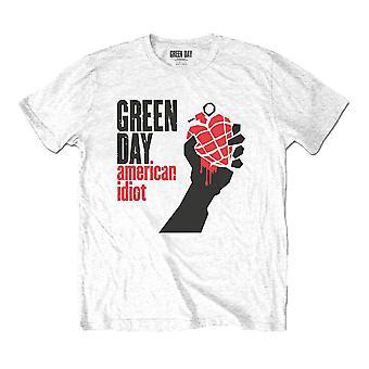 Men's Green Day American Idiot White T-Shirt