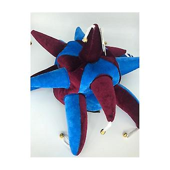 Union Jack Wear Claret And Blue Jester Hat With Bells