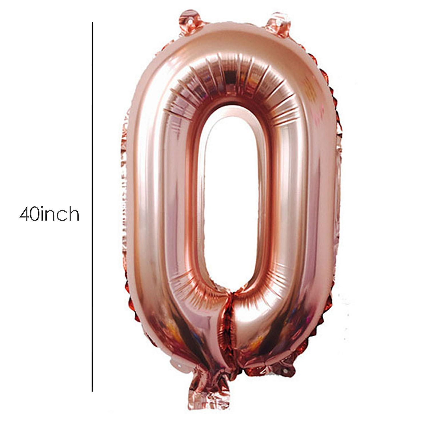 TRIXES Number 30 Foil Balloon For Birthdays Anniversaries  40 Inch Rose Gold