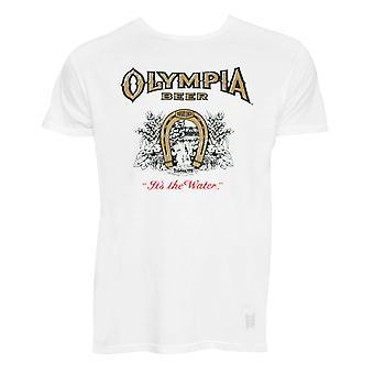 Olympia Retro merk witte T-shirt