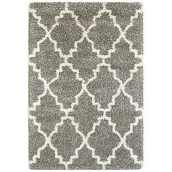 Henderson 092e9 grey/ ivory indoor area rug rectangle 6'7