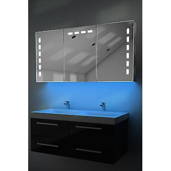 Demist cabinet cu LED sub iluminat, senzor & aparat de ras intern k379w