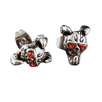 örhängen Claw Holding A Red Eyed Skull Stainless Steel