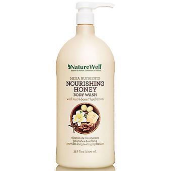 NatureWell Mega Nutrients Nourishing Honey Body Wash 33.8 fl oz / 1000 ml