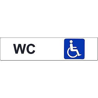 ملصقا باب الباب باب البوابة التجارية مكتب مرحاض مرحاض لوحة HandicapE