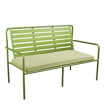 Beach7 | Briant aluminium tuinbank met zitkussen  Olijfgroen | loungesets