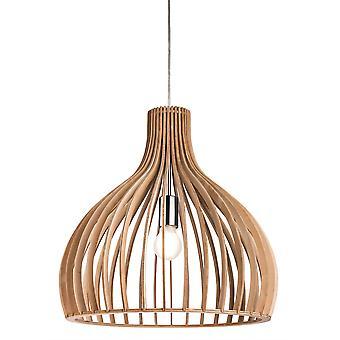 Firstlight Cadiz 1 licht kooi hanger licht natuurlijke hout 3714