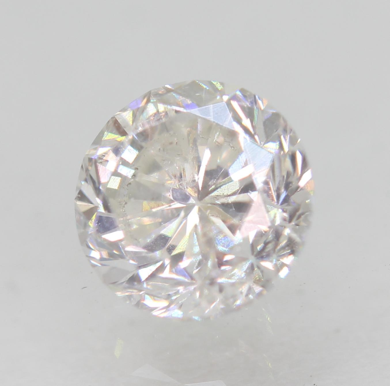 Certified 0.71 Carat E VS2 Round Brilliant Enhanced Natural Loose Diamond 5.38mm
