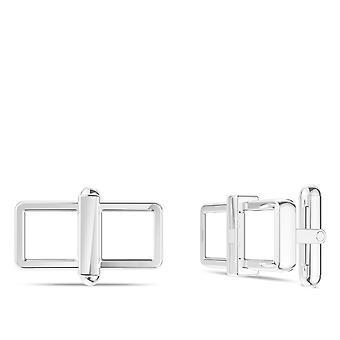 Enamel Cuff Links In Sterling Silver