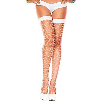 Grove Fishnet Stockings-White