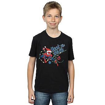 Marvel Boys Spider-Man Deck Die Wände T-Shirt