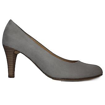 Gabor Cranberry 310-49 grijs micro velours Womens slip op hoge hak Hof schoenen