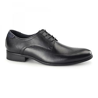 Azor Giorgio Mens Leather Derby Brogues Black
