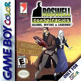 Roswell Conspiracies Aliens Myths & Legends GBC Game