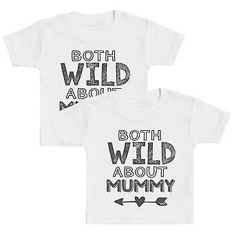 Both Wild About Mummy Kids T-Shirt - Kids Top - Boys T-Shirt - Girls T-Shirt