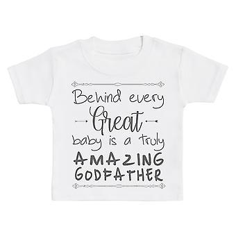 وراء كل طفل عظيم هو مذهلة حقا الله الطفل تي شيرت
