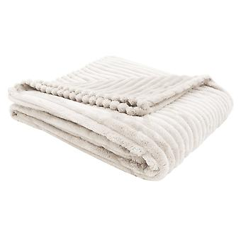 """50"""" x 60"""" Ivory, Ultra Soft Ribbed Style - Throw"""