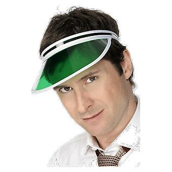Mens Poker Player Green Visor Hat Golf Cap Fancy Dress