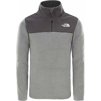 North Face Youth Glacier Full Zip - XS/L - Med Grey Heather