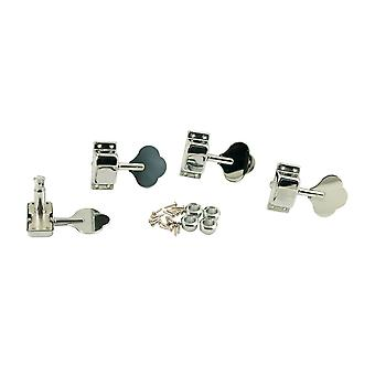 WD Music Enclosed 4 In Line Bass Tuners Chrome