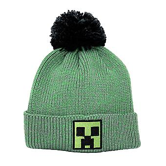 Minecraft Block Face Beanie gr³n/black, embroidered, with bobble, 100% polyacrylic.