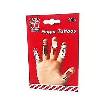 Weihnachten Finger Tattoos 20Pc