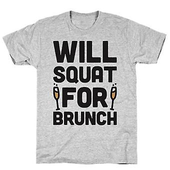 Will squat for brunch t-shirt
