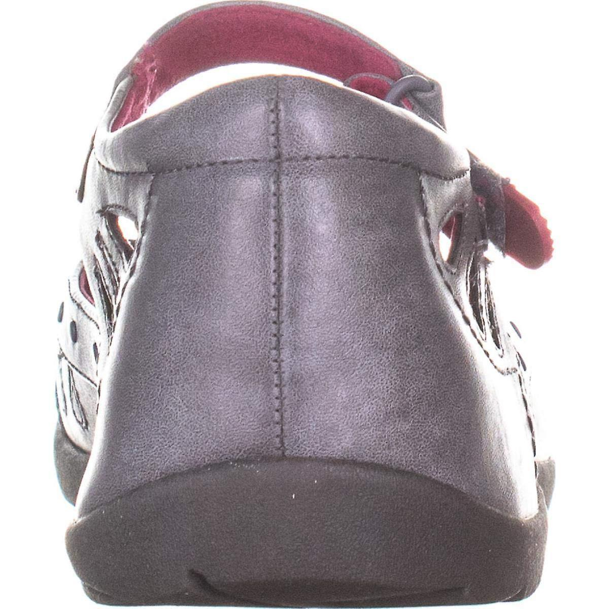 BareTraps Fayden Ankle Strap Flats, Grigio scuro, 7.5 US  LHGFft