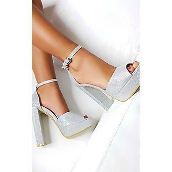 IKRUSH Damen Kirti Peep Toe Block High Heels